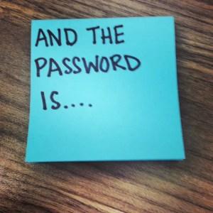 Password ESL speaking activity