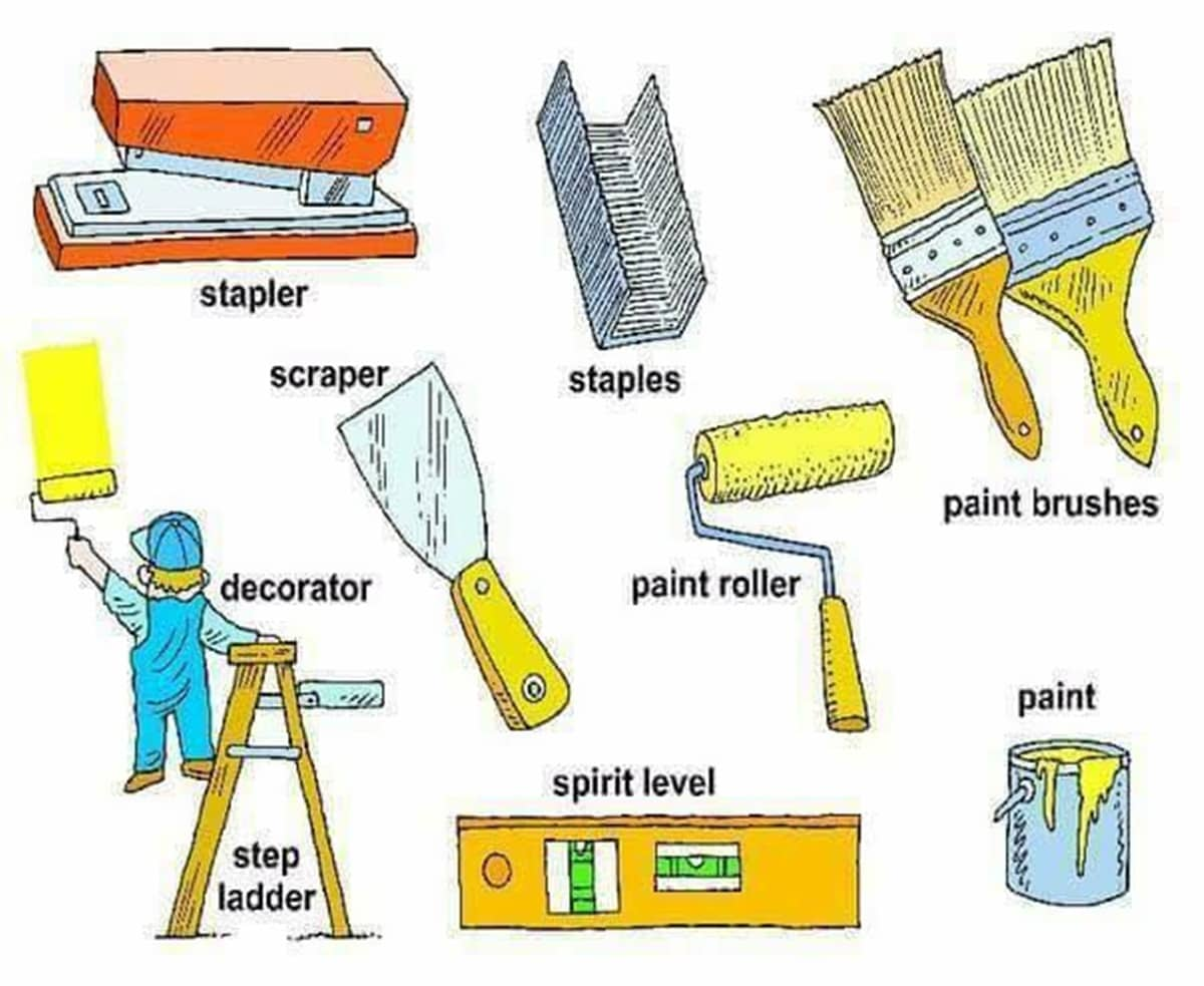 Tools, Equipment, Devices and Home Appliances Vocabulary: 300+ Items Illustrated 18