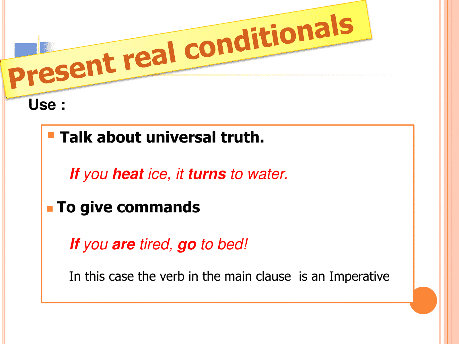 The Four Types Of Conditionals In English