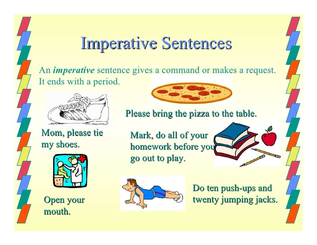 Imperative Sentences: Definition & Examples - ESL Buzz