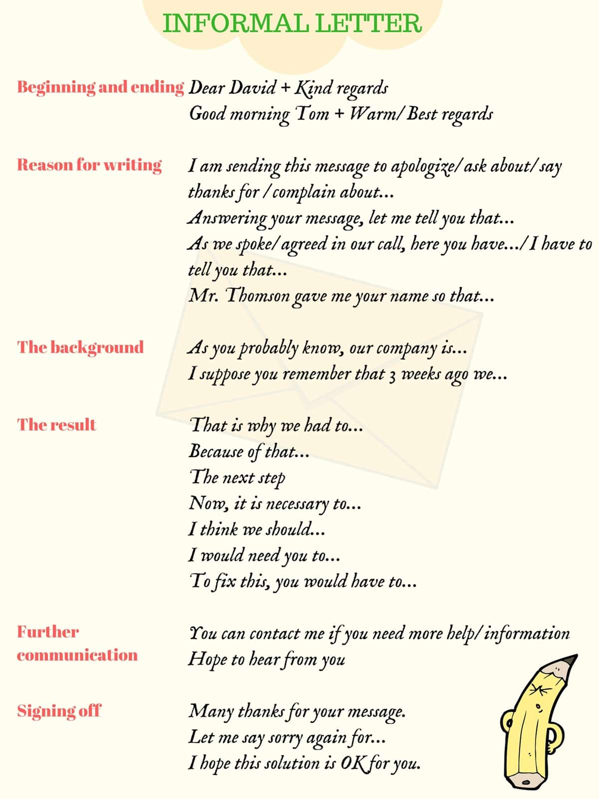 how to write informal letters in english  with examples   u2013 esl buzz