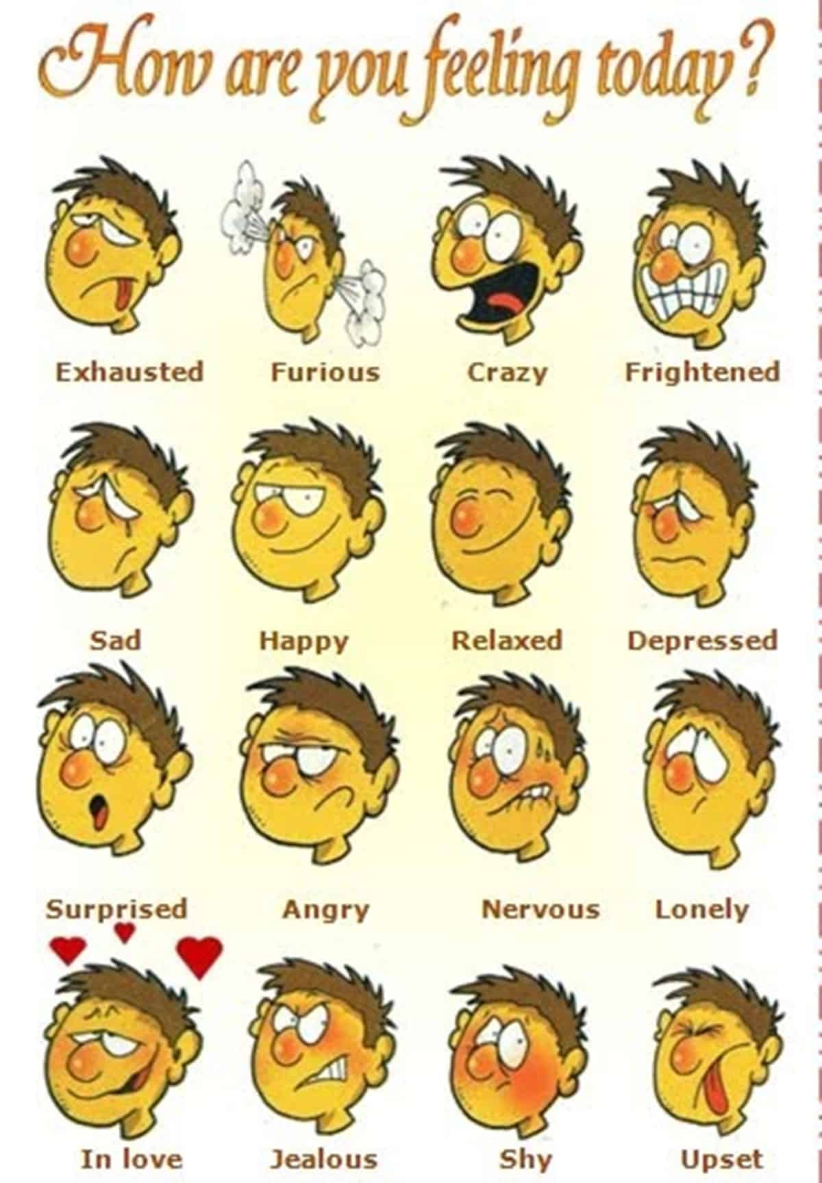 How To Describe Someone S Feelings And Emotions In English