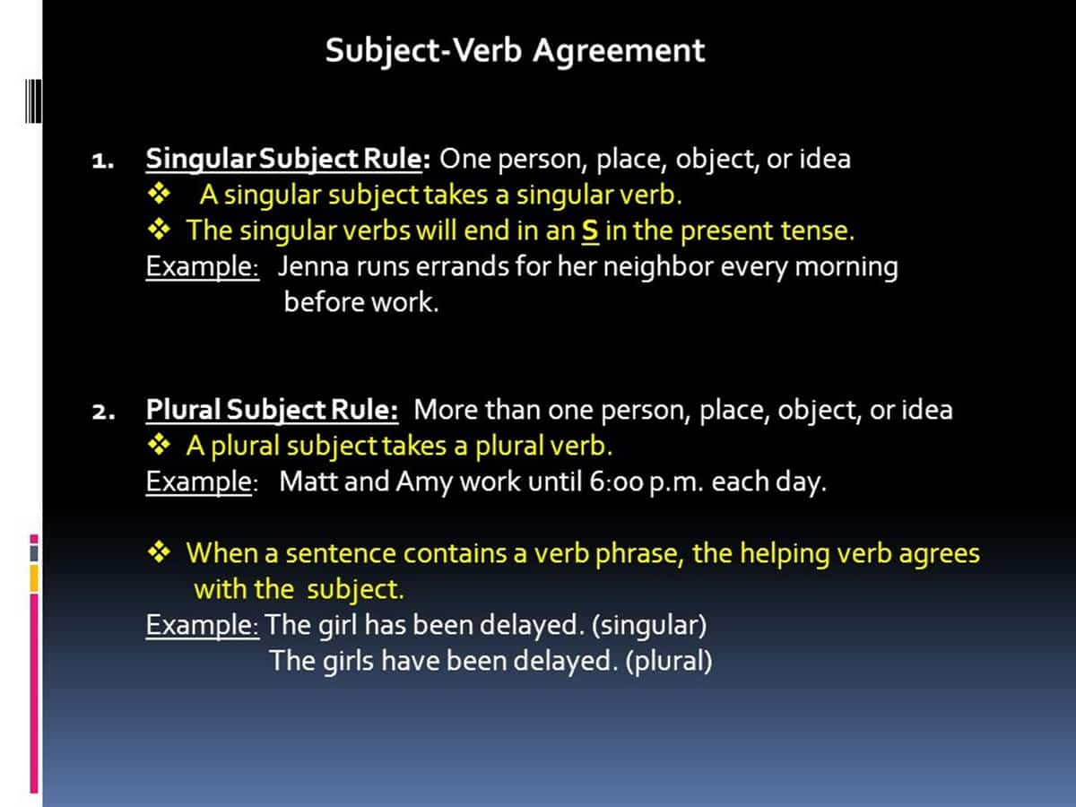 Must know rules for subject verb agreement esl buzz rule 4 the following words may be singular or plural depending upon their use in a sentence some any all most platinumwayz