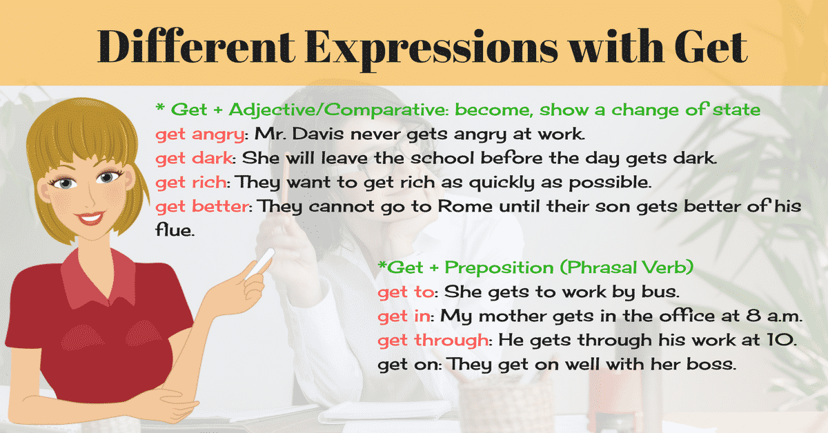 Commonly Used Expressions with GET in English 15