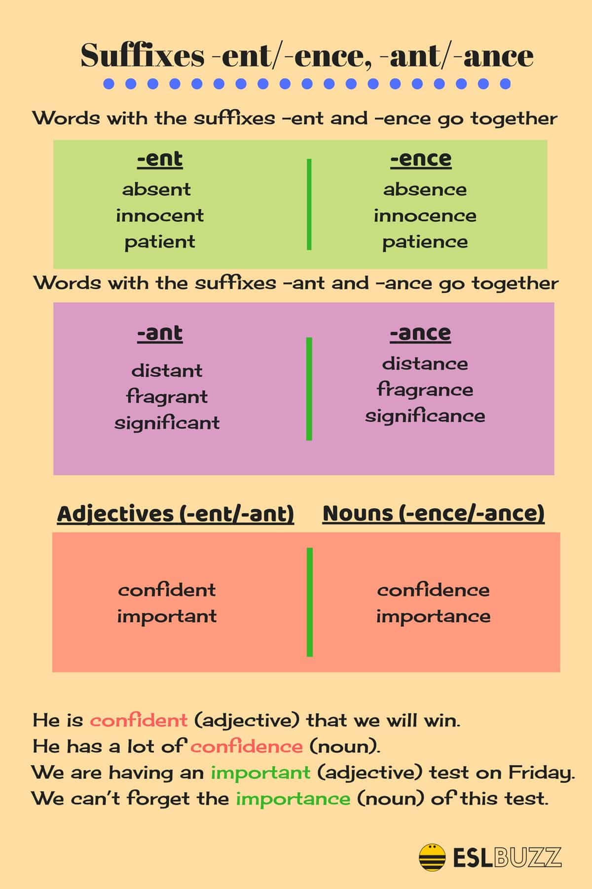 Ent Suffix Worksheet