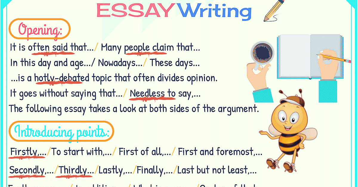 How to write essays quickly