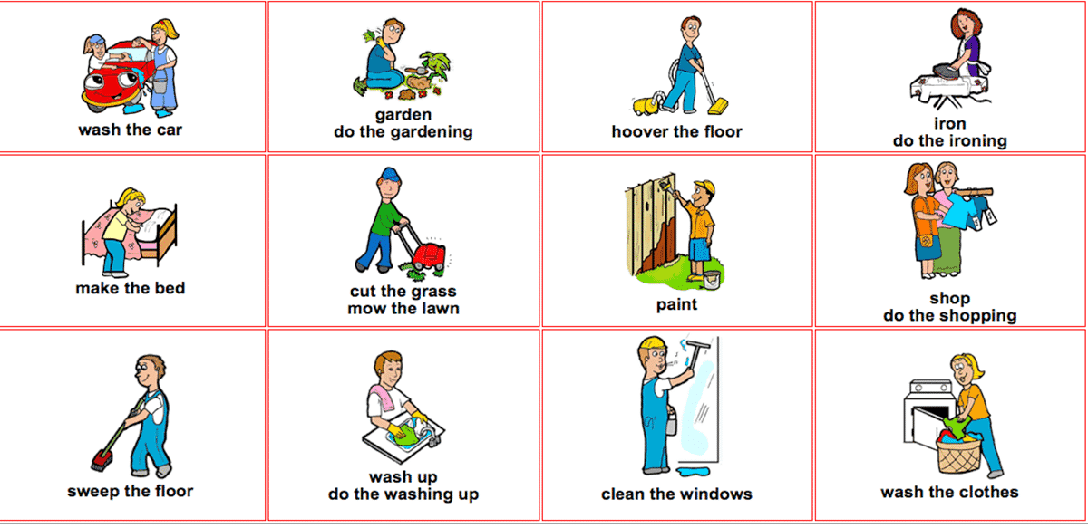 Talking about household chores in English 14