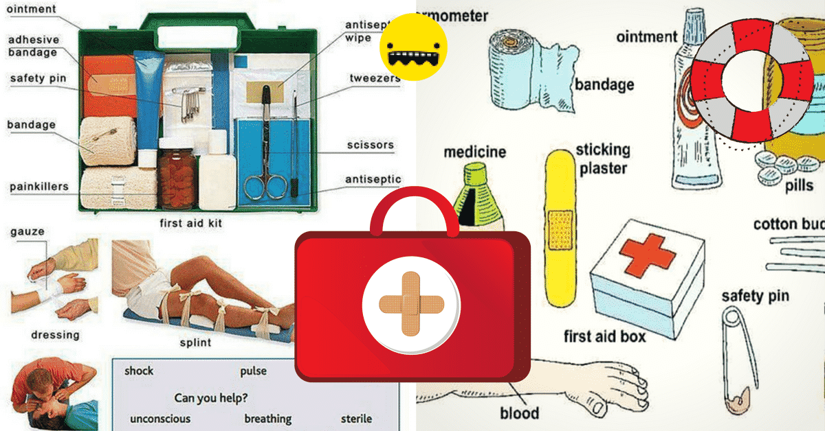 Quot First Aid Kit Quot Vocabulary In English Esl Buzz