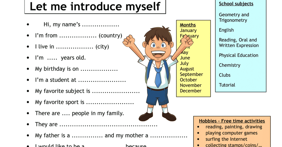 introduce myself in english example business