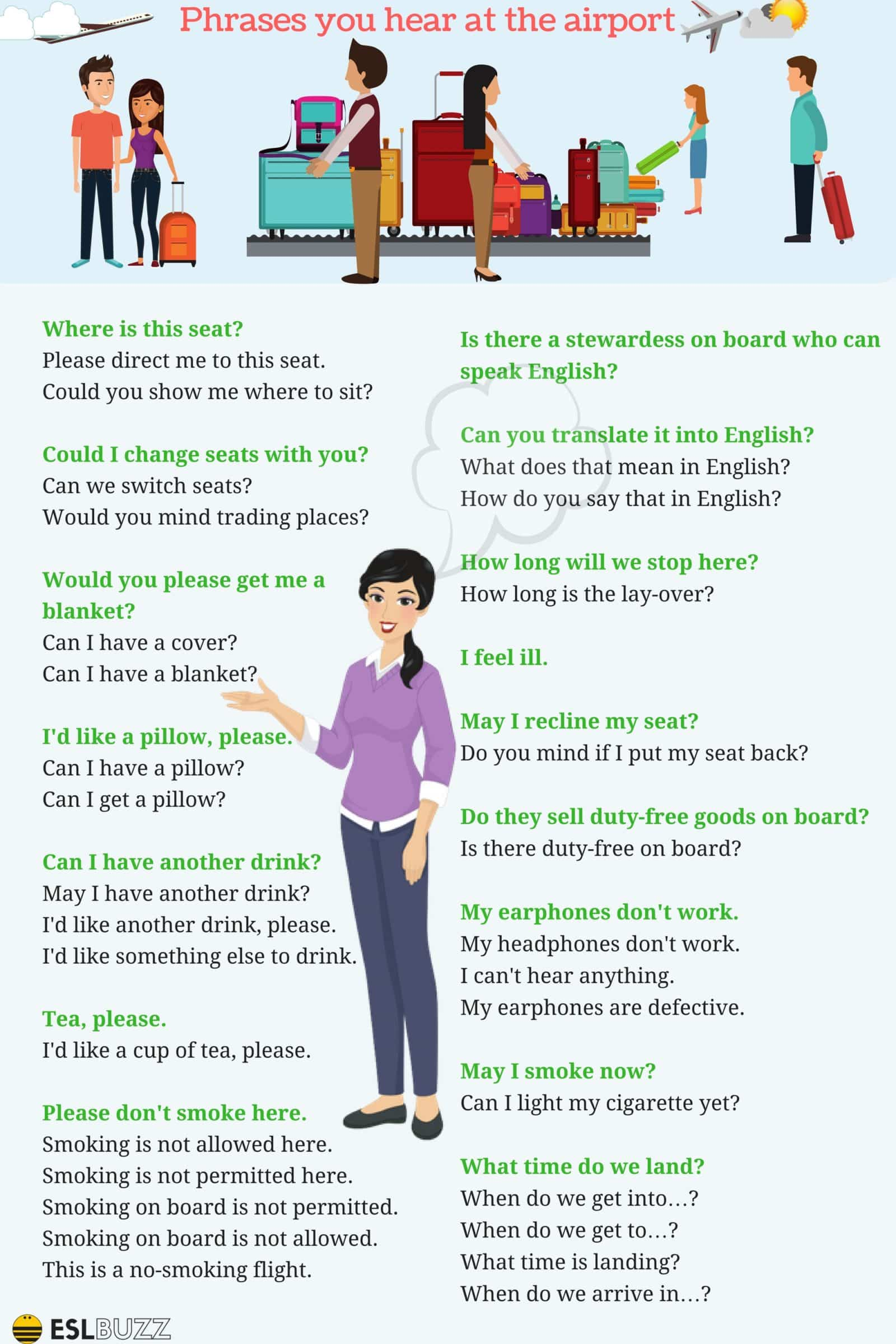 Common Phrases You Hear At The Airport