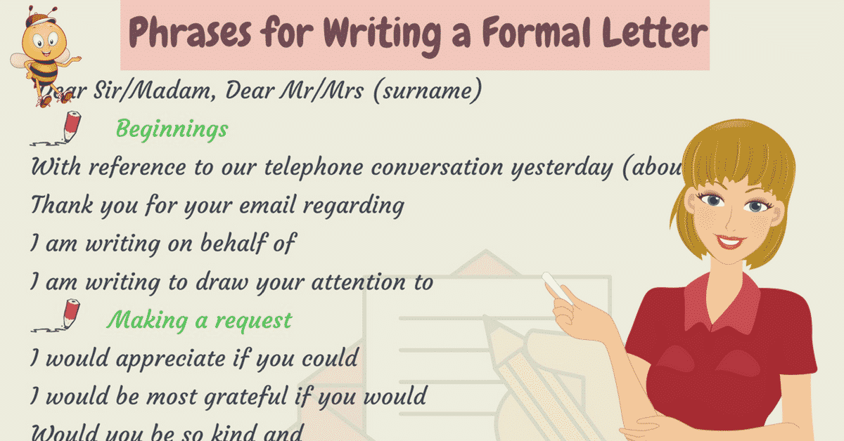 Useful Phrases and Vocabulary for Writing Letters in English