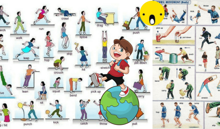 Verbs to Express Body Movement in English