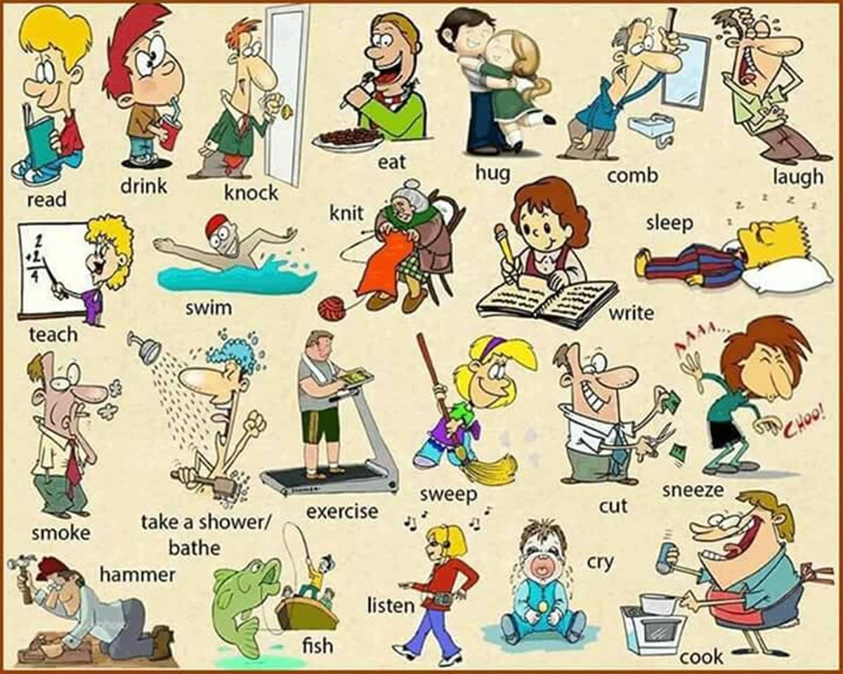 20 Most Common Verbs In English