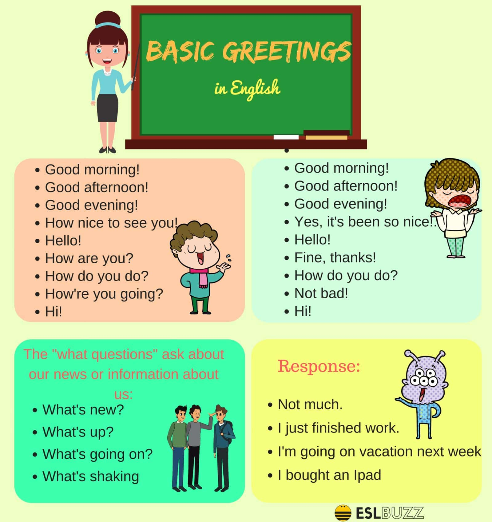 Useful English Greetings And Expressions For English Learners Esl Buzz
