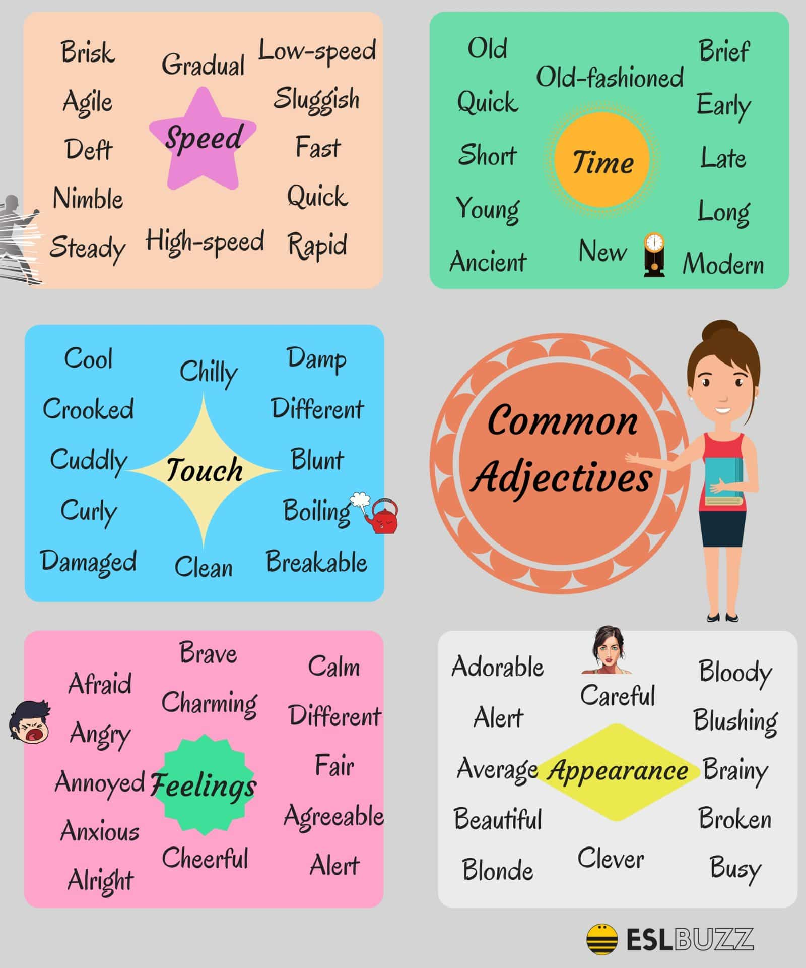 list of most common adjectives in english pdf