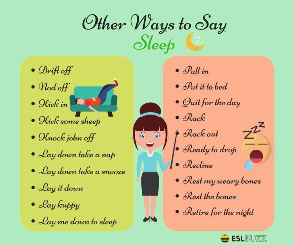 "50+ Different Ways to Say ""I'm Going to Sleep"" in English 15"