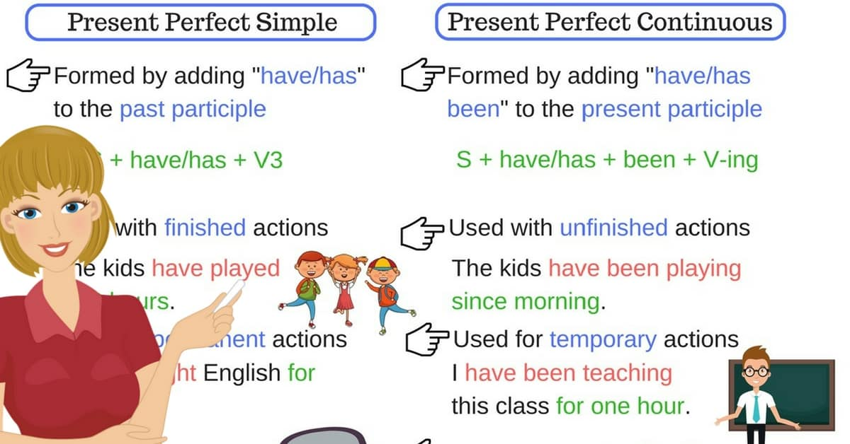 Esl Conversation Present Perfect >> English Tenses: Present Perfect Simple vs. Present Perfect Continuous – ESL Buzz