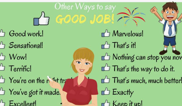 100 Ways to Say GOOD JOB