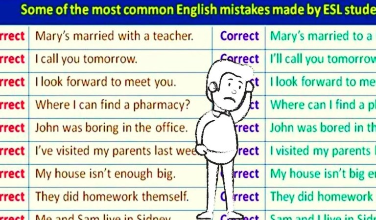 Some of the Most Common English Mistakes Made by ESL Students