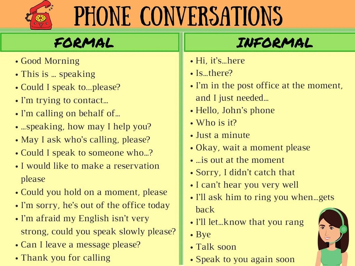 Important Vocabulary And Phrases For English Telephone