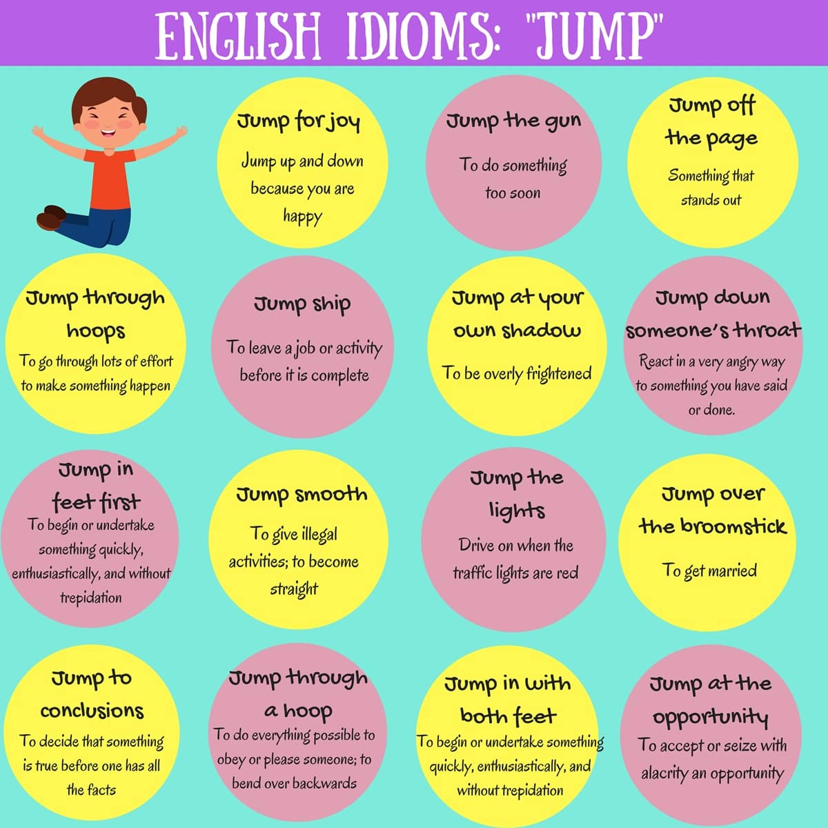 """17 Useful Expressions with the Word """"JUMP"""" in English 14"""