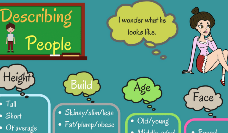 English Words for Describing a Person's Appearance