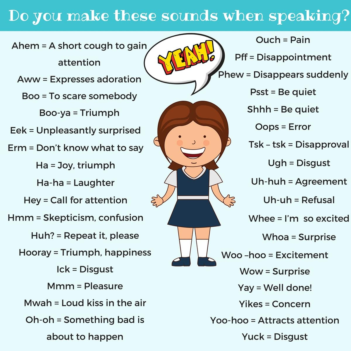 Words Describe Sound Laughter