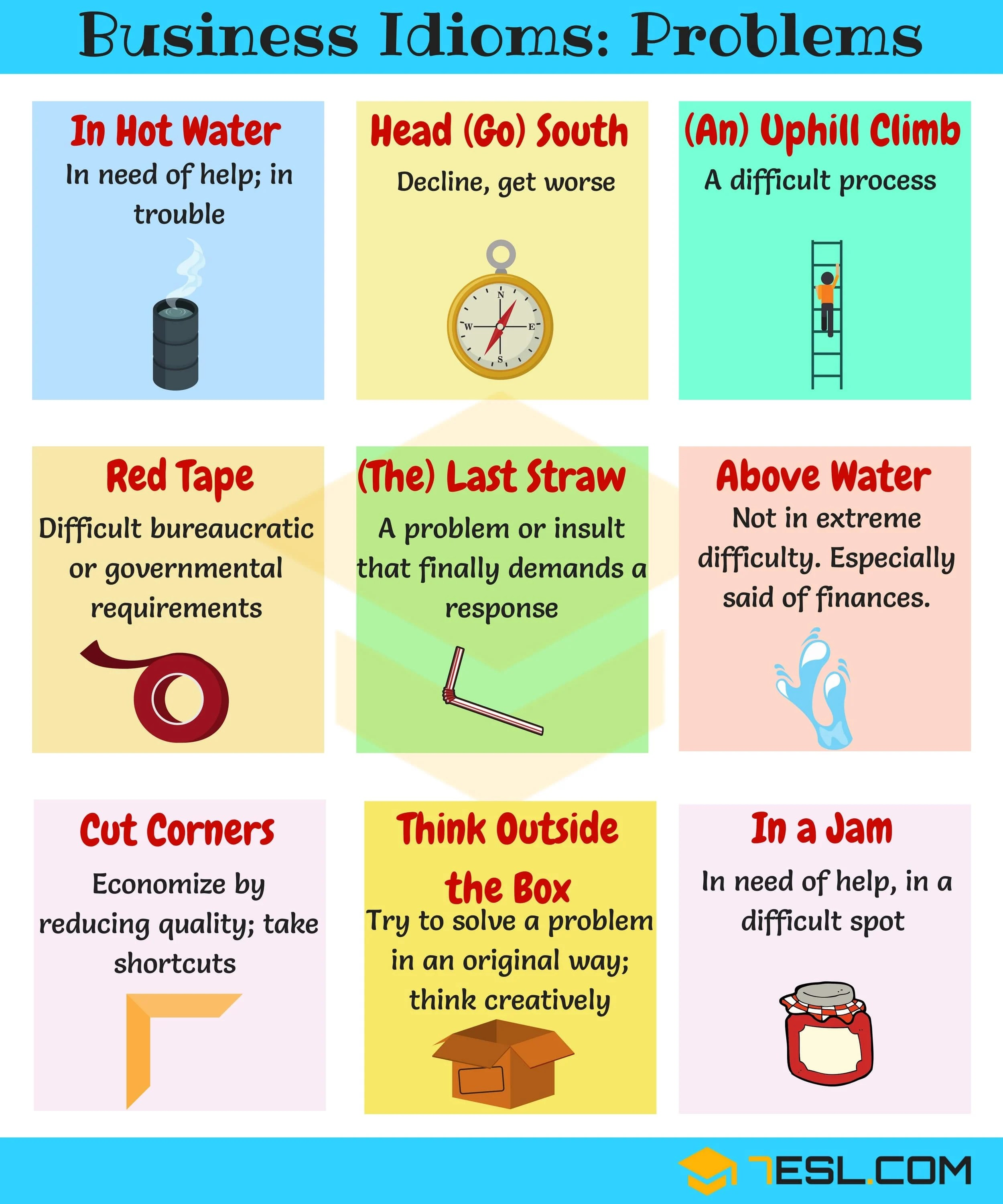 10 Useful English Idioms For Problems With Meaning