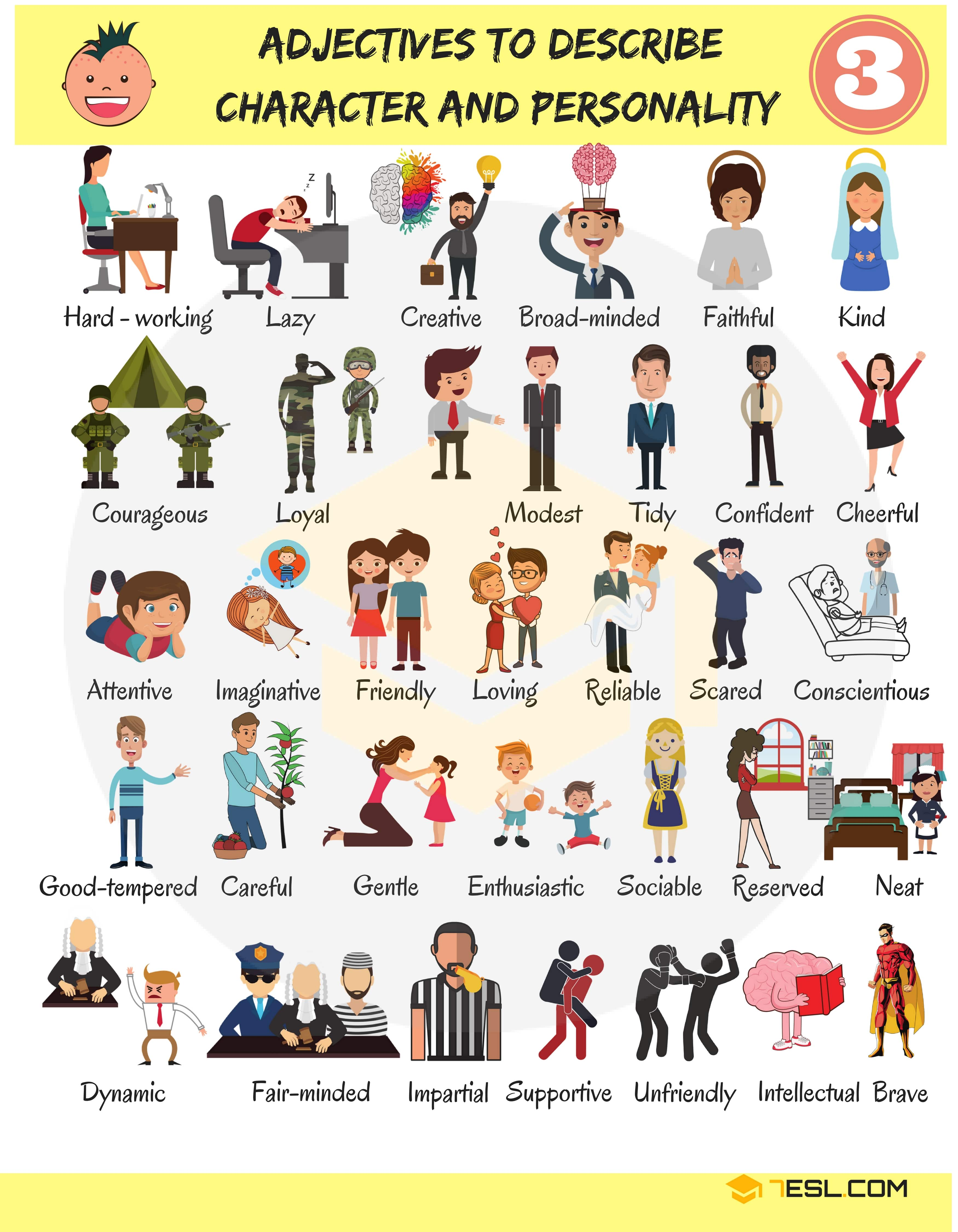 English Adjectives For Describing Character And