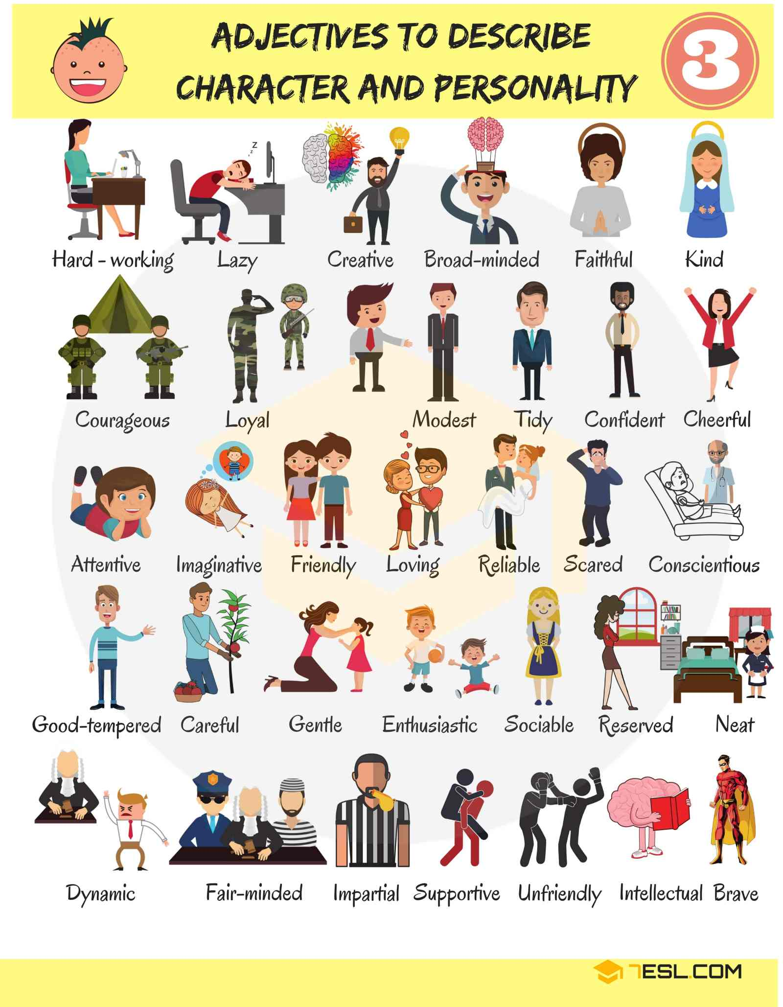 English Adjectives for Describing Character and Personality 15