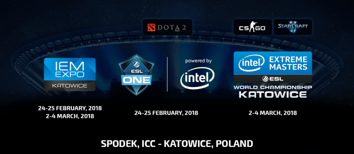 ESL One And Intel Extreme Masters World Championship Return To Katowice Poland In 2018