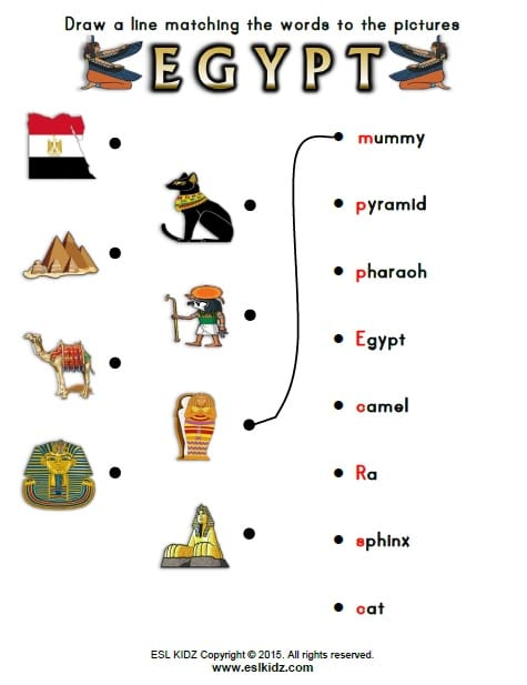 Egypt Worksheets Activities Games And Worksheets For Kids