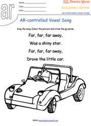 R Controlled Vowel Songs Phonics Songs