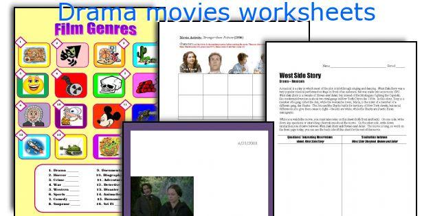 English Teaching Worksheets Drama Movies
