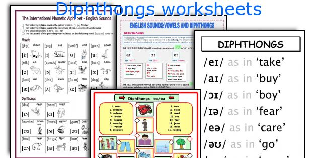 Diphthongs Worksheets