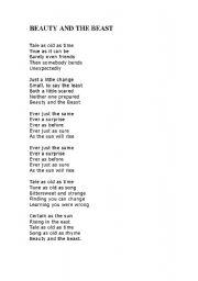 beauty and the beast lyrics # 35
