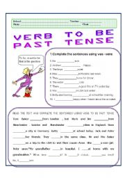 Verb To Be Past Tense
