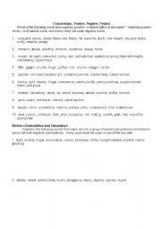 English Worksheets Connotations And Denotations Worksheet