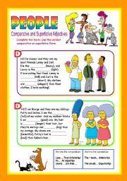 People Comparative Amp Superlative Adjectives
