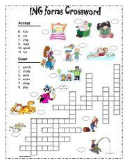 Ing Forms Crossword