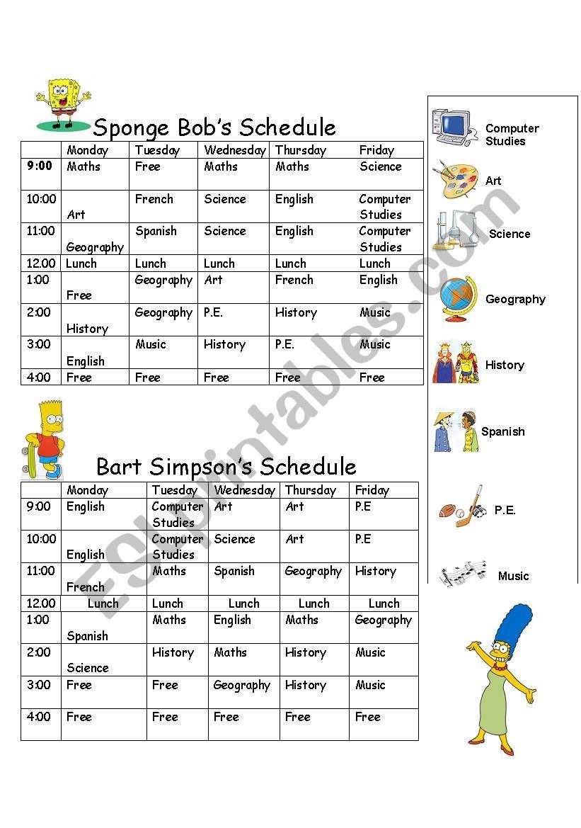 Timetable Bob And Bart