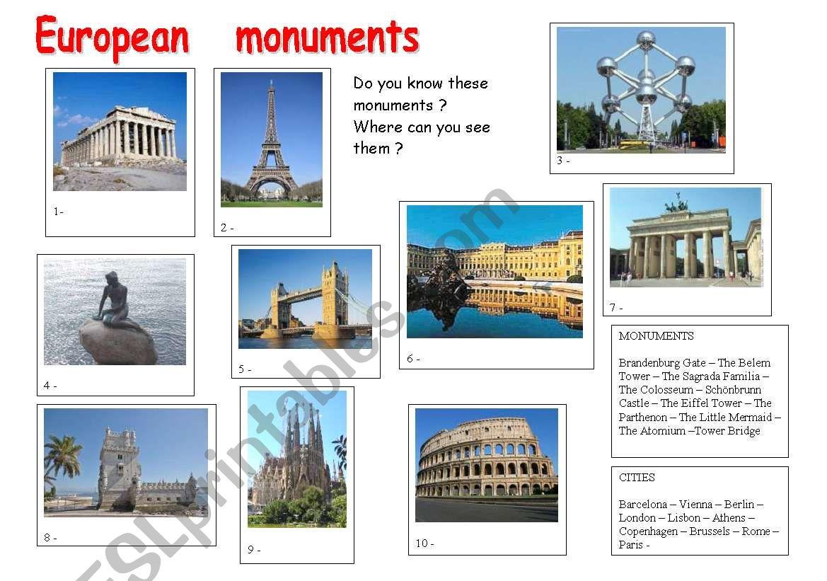 European Mouments