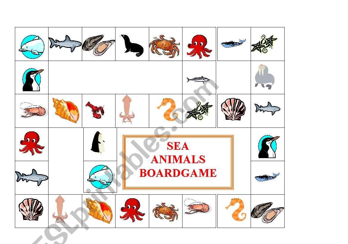 Sea Animals Boardgame