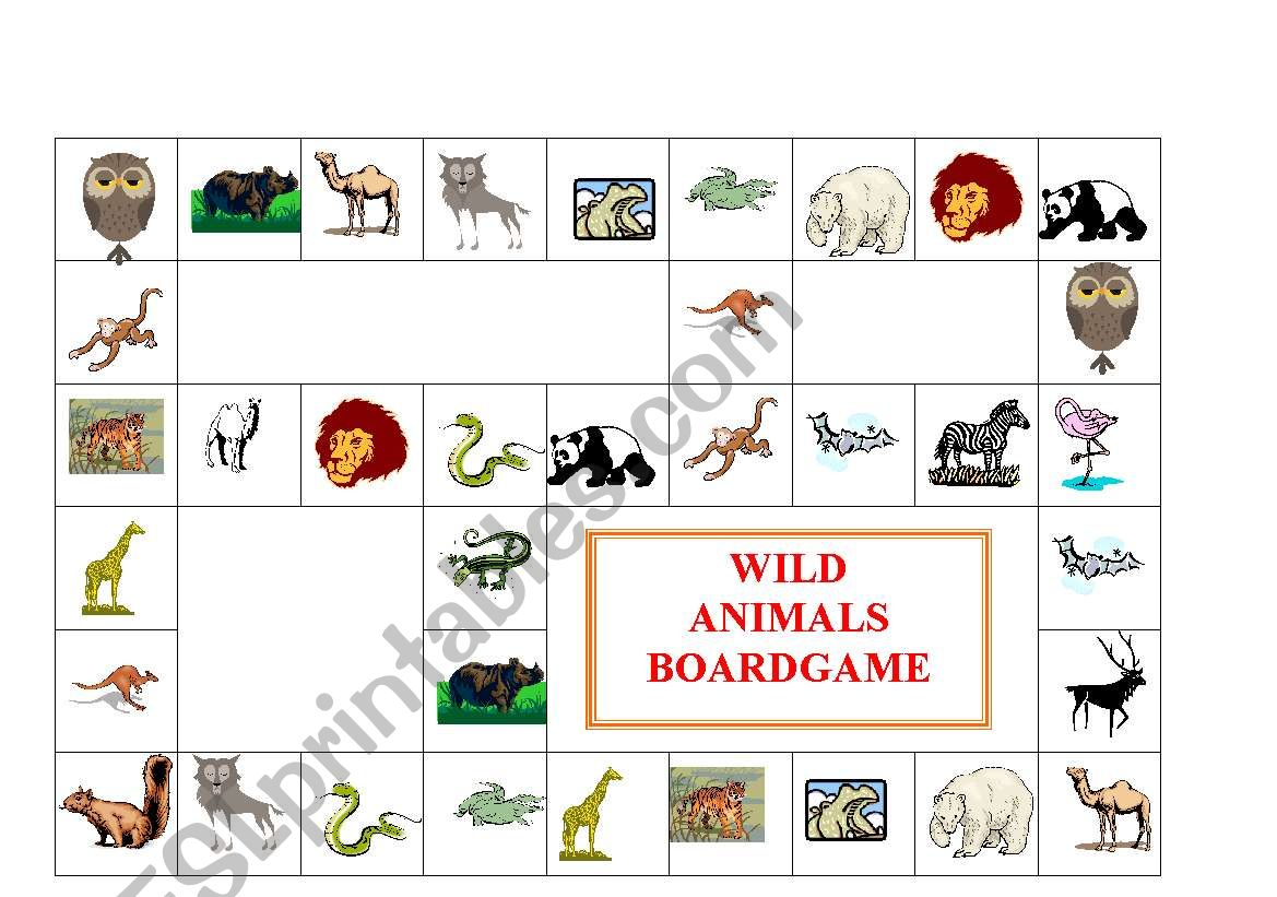 Wild Animal Worksheet Esl