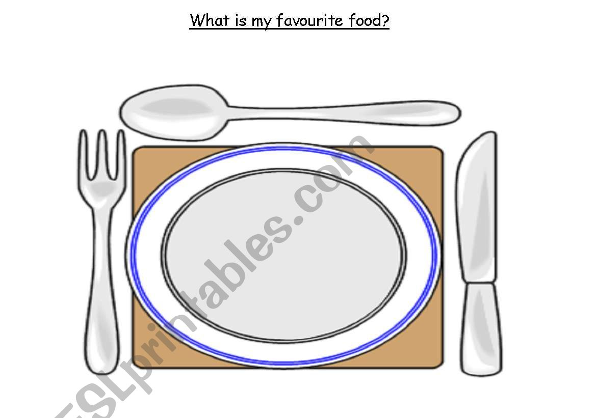 My Favorite Food Worksheet