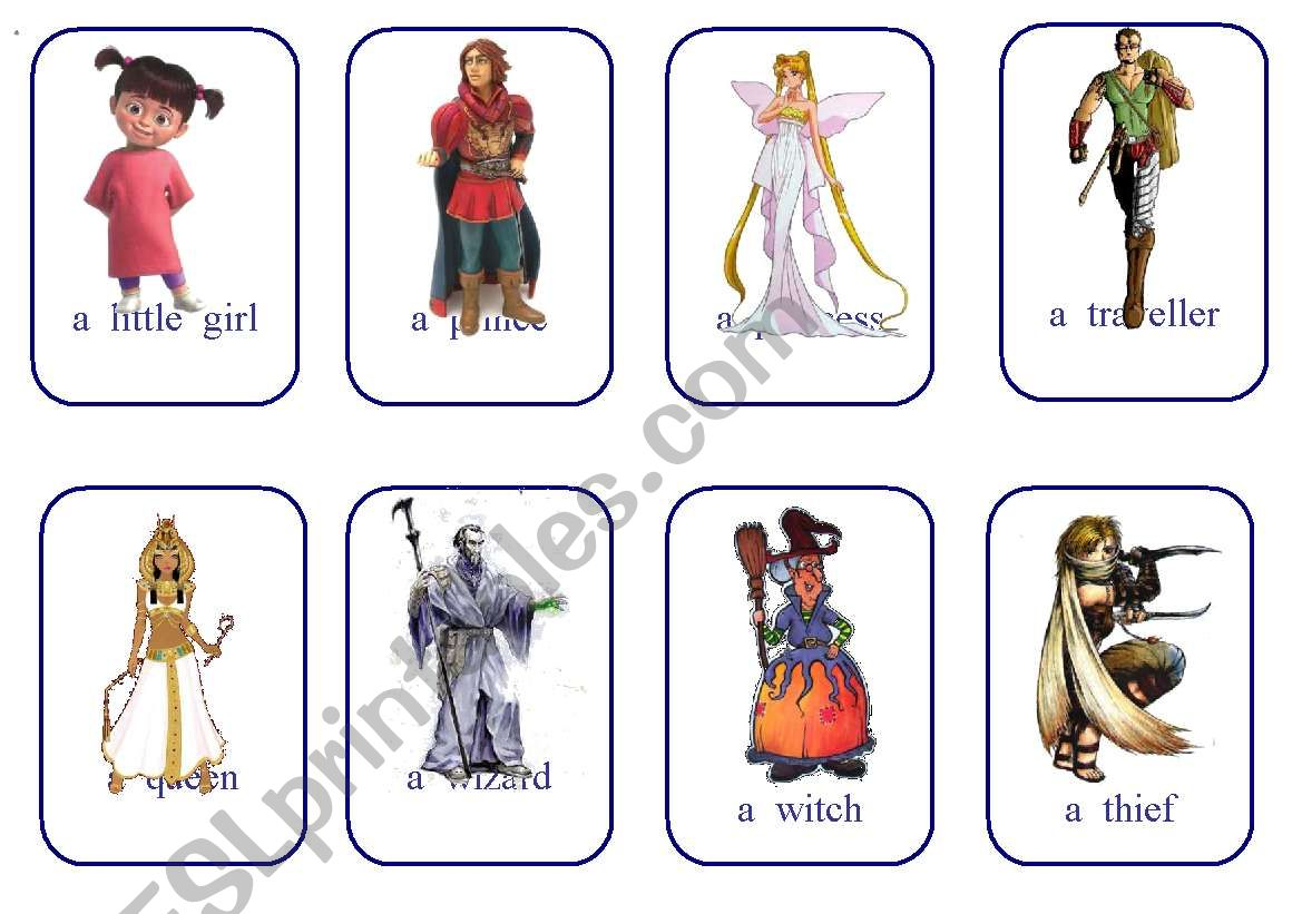 Write Your Own Fairy Tale Cards Game Characters 1