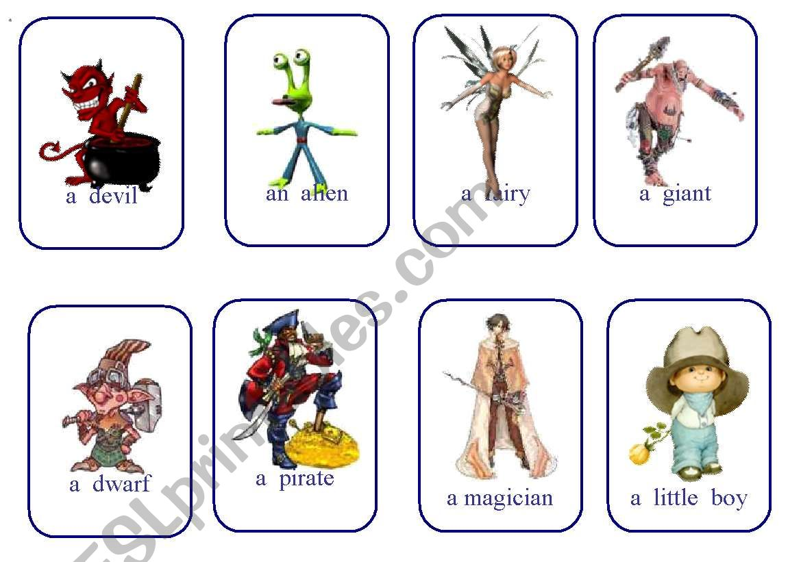 Write Your Own Fairy Tale Cards Game Characters 2