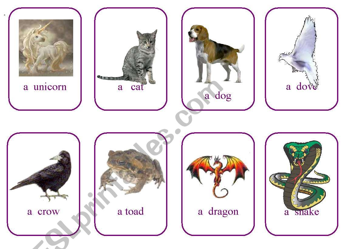 Write Your Own Fairy Tale Cards Game 7 Animals