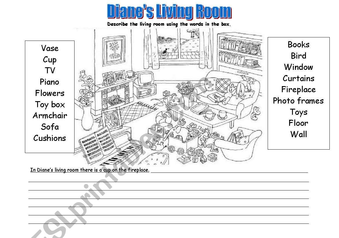 Room Description Prepositions There Is There Are