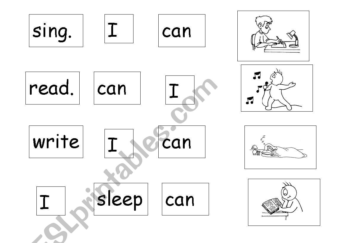 English Worksheets Verb Unjumble Mix And Match Word To